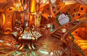x-mas in the TARDIS by Aerindarkwater