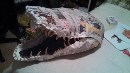 WIP Smaug paper mache by Aerindarkwater