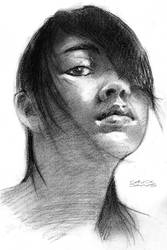 Quick Sketch Portrait 02 by chuckdaws