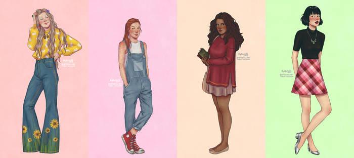 Girls by upthehillart