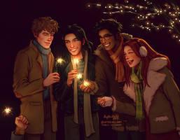 Happy New Year! by upthehillart