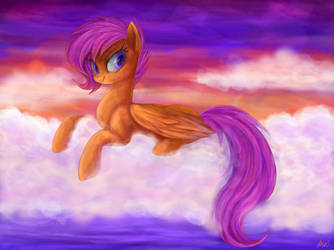 Sunset Scootaloo by Mn27