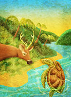Turtle and Deer, Cover. by jagosilver