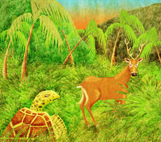 Turtle and Deer - interior 02 by jagosilver