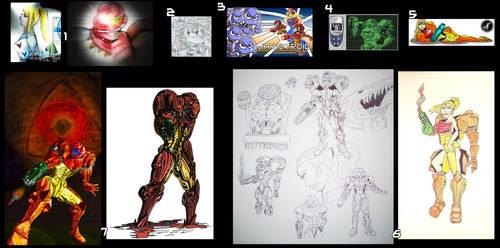 Fan Art Compilation - Multiple Artists 6 by MetroidDatabase