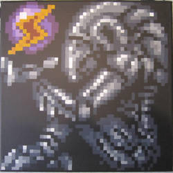 Chozo Statue Pixel Painting by MetroidDatabase