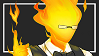 Grillby Stamp Simple by Trefoil-underscore