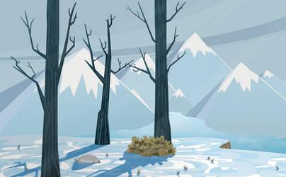 Winter Scene by BonesWolbach