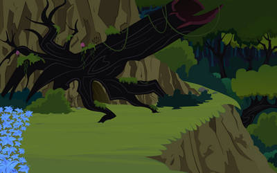 Everfree Fallen Tree-3 by BonesWolbach
