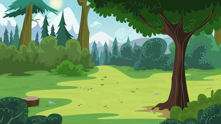 Pine Forest by BonesWolbach