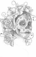 Gianna Michaels Sugar skull by trippkayaris