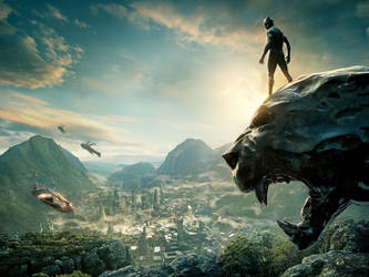 Black Panther Textless Poster by MrWonderWorks