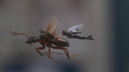 Ant-Man, Ant-ony, And The Wasp by MrWonderWorks