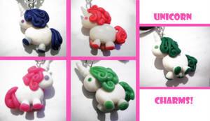 Unicorn charms by FelineArtisan