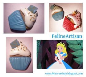 Alice in Wonderland Cupcake by FelineArtisan