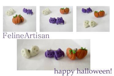 Halloween stud set by FelineArtisan