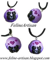 Cat Love Pendant by FelineArtisan