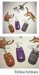 Chubby Cat Earrings by FelineArtisan