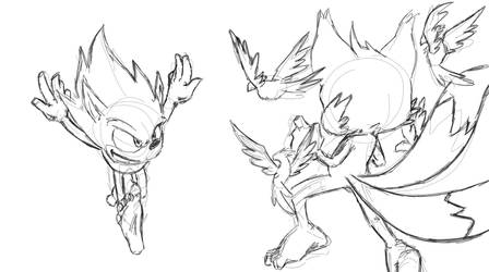 Super Sonic Super Tails sparring WIP by fwrussell