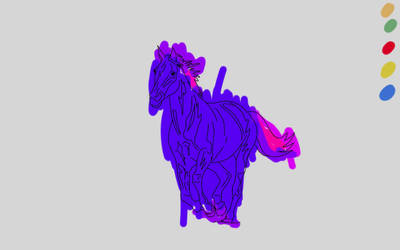 SketchThis: Color this horse  by fwrussell