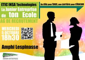 Poster Recruitement J.E. by sakenplet