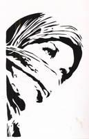 Hijab Girl Stencil by HeartThrobTawd