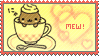 Nyanko Cappuccino stamp by veggiefriends