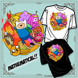 Adventure Time Tshirt Contest Submission by Juliefoo