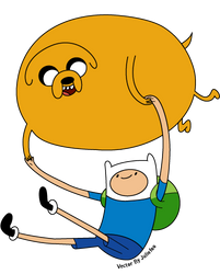 Finn and Jake Balloon Vector by Juliefoo
