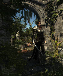 Exploring Ruins by Rhian-Skyblade