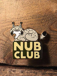 Nub Club Hard Enamel Pin [WITH SPRINGY TAIL!] by NicnakO44