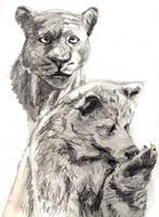 Bagheera and Baloo by ciuchiban