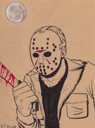 Inktober 2018 #1: Jason Voorhees. by RyanShifflett