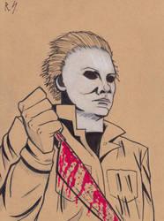 Inktober 2018 #5: Michael Myers. by RyanShifflett