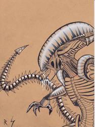 Inktober #10: Xenomorph by RyanShifflett