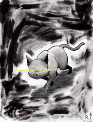 Inktober #11: Magic Cat. by RyanShifflett