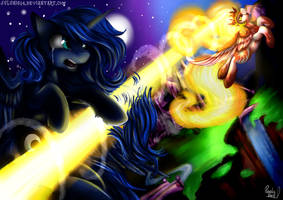 'Before the Banishment of Daybreaker' + SPEEDPAINT by Julunis14