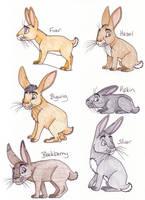 Watership Down Rabbits by chikajin