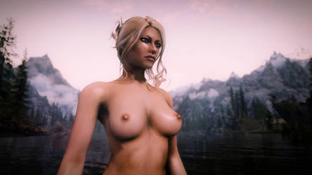 Nude Bathing in Skyrim by mattboggs