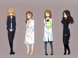Girls in Sherlock by patatomato