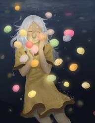 Underwater jellys by KeariLeonheart