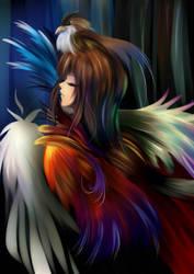 Rainbow Feather by Kazeo-YuuRin