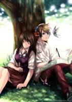 Rest Under Tree by Kazeo-YuuRin