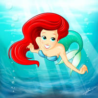 Little Mermaid Ariel by Witchking00