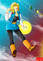 Android 18 hide love by Witchking00