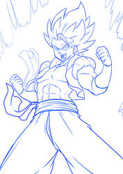 GOGETA SKETCH by Witchking00