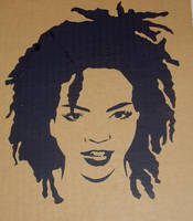 lauryn hill stencil by spectreDeck