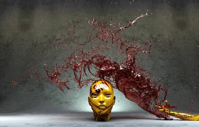 Head red splash by Sanderx