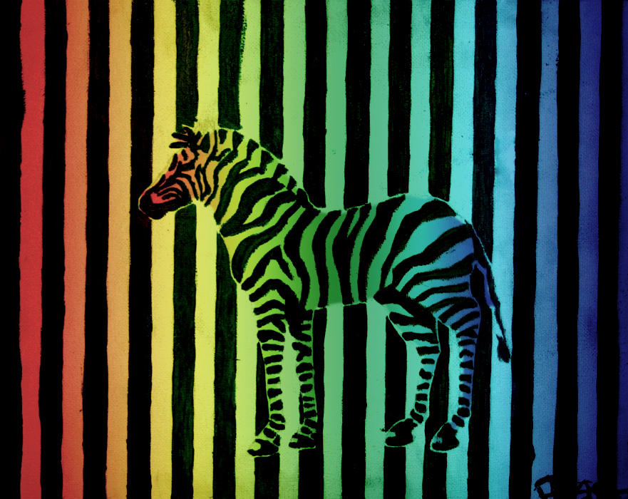 rainbow zebra. by steeerne