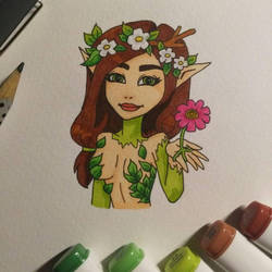 Fairy whit Flower  by RainbowColourfairy03